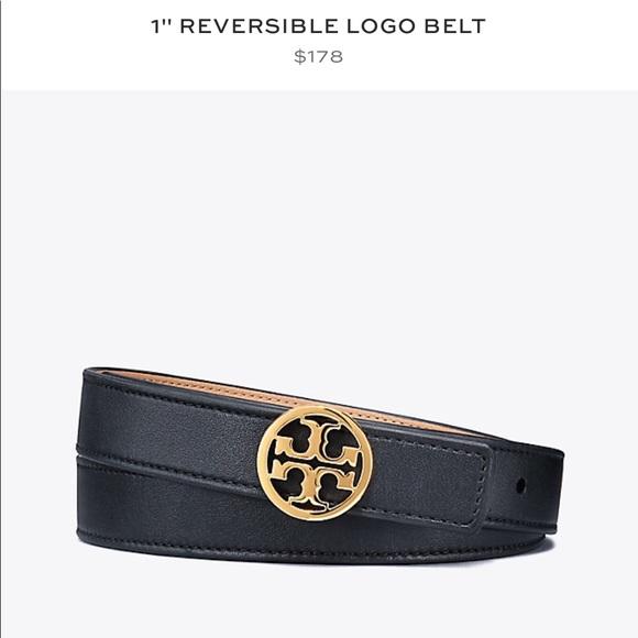 "d7ad12edb5c Tory Burch Accessories - Tory Burch 1"" reversible logo belt- black   brown"